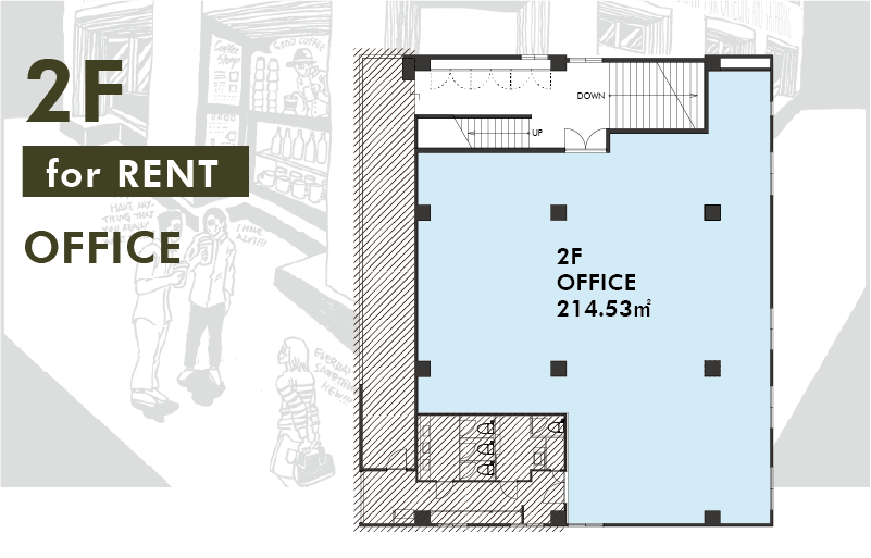 THE WORKS  OFFICE for RENT 2F-PLAN